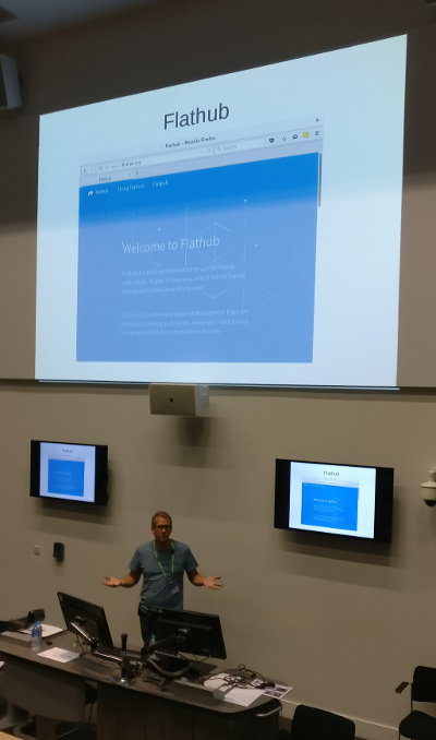 Alex Larsson talks about Flathub at GUADEC 2017